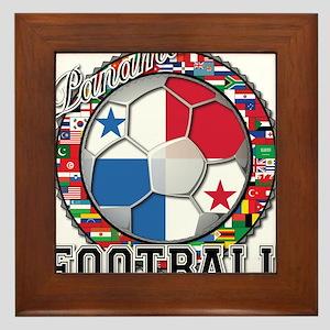 Panama Flag World Cup Footbal Framed Tile