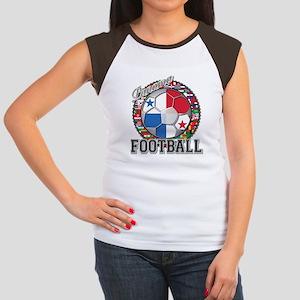 Panama Flag World Cup Footbal Women's Cap Sleeve T