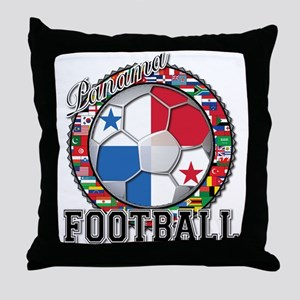 Panama Flag World Cup Footbal Throw Pillow