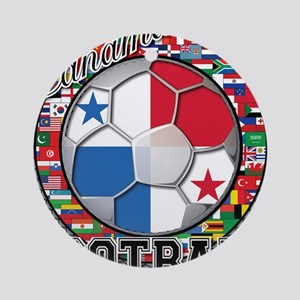 Panama Flag World Cup Footbal Ornament (Round)