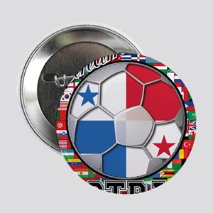 "Panama Flag World Cup Footbal 2.25"" Button"