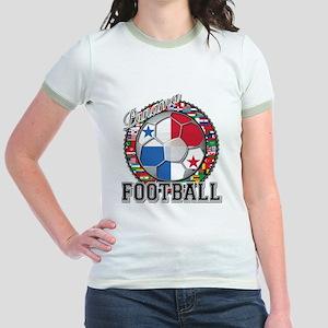 Panama Flag World Cup Footbal Jr. Ringer T-Shirt