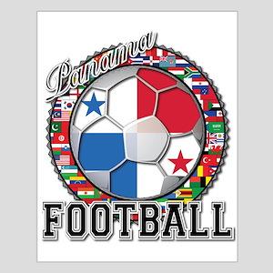 Panama Flag World Cup Footbal Small Poster