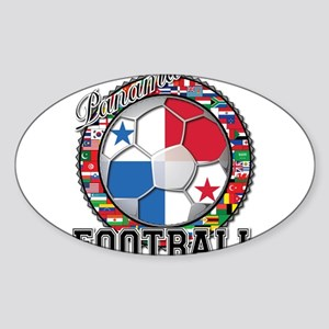 Panama Flag World Cup Footbal Sticker (Oval)