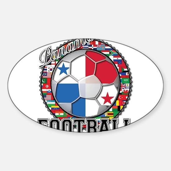 Panama Flag World Cup Footbal Sticker (Oval)