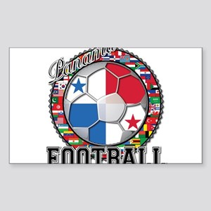 Panama Flag World Cup Footbal Sticker (Rectangle)