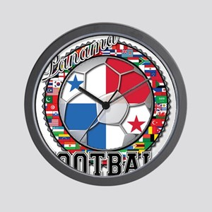 Panama Flag World Cup Footbal Wall Clock