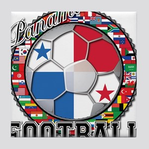 Panama Flag World Cup Footbal Tile Coaster