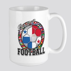 Panama Flag World Cup Footbal Large Mug