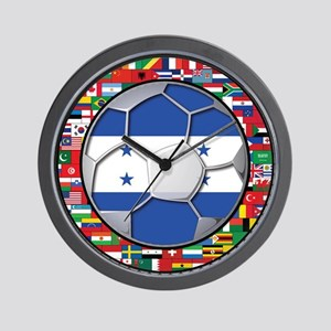 Honduras Flag World Cup Footb Wall Clock