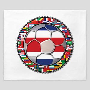 Costa Rica Flag World Cup No King Duvet