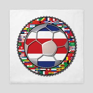 Costa Rica Flag World Cup No Queen Duvet
