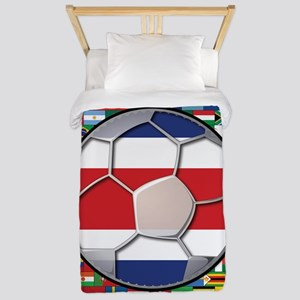 Costa Rica Flag World Cup No Twin Duvet