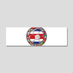 Costa Rica Flag World Cup No Car Magnet 10 x 3