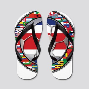 Costa Rica Flag World Cup No Flip Flops