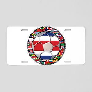 Costa Rica Flag World Cup No Aluminum License Plat