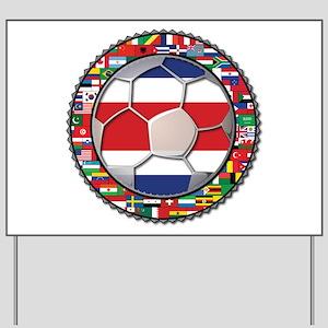 Costa Rica Flag World Cup No Yard Sign