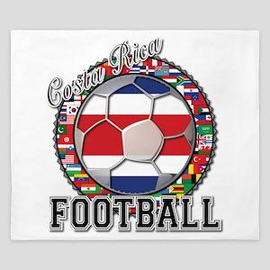 Costa Rica Flag World Cup Foo King Duvet
