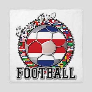 Costa Rica Flag World Cup Foo Queen Duvet