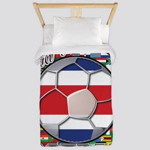 Costa Rica Flag World Cup Foo Twin Duvet
