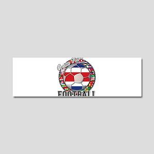 Costa Rica Flag World Cup Foo Car Magnet 10 x 3