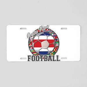 Costa Rica Flag World Cup Foo Aluminum License Pla