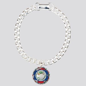 Belize Flag World Cup No Labe Charm Bracelet, One