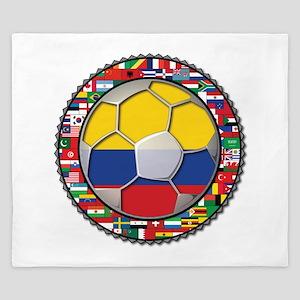 Colombia Flag World Cup No La King Duvet