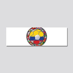 Colombia Flag World Cup No La Car Magnet 10 x 3