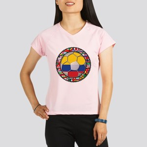 Colombia Flag World Cup No La Performance Dry T-Sh