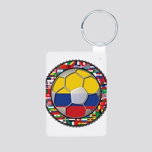 Colombia Flag World Cup No La Aluminum Photo Keych