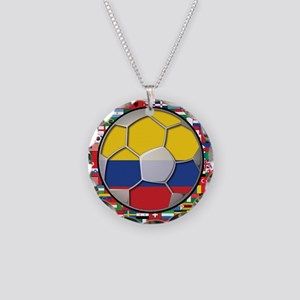 Colombia Flag World Cup No La Necklace Circle Char