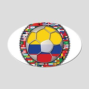 Colombia Flag World Cup No La 22x14 Oval Wall Peel