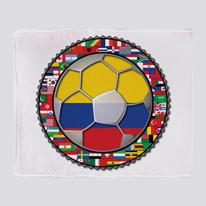 Colombia Flag World Cup No La Throw Blanket