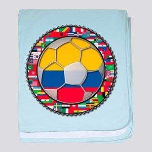 Colombia Flag World Cup No La baby blanket
