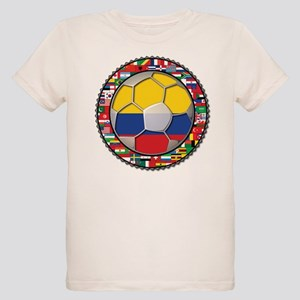 Colombia Flag World Cup No La Organic Kids T-Shirt