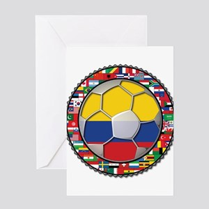 Colombia Flag World Cup No La Greeting Card