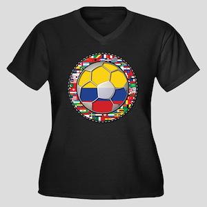 Colombia Flag World Cup No La Women's Plus Size V-