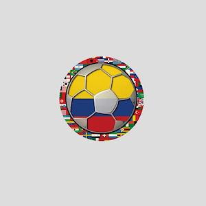 Colombia Flag World Cup No La Mini Button