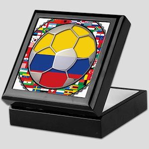 Colombia Flag World Cup No La Keepsake Box