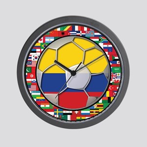 Colombia Flag World Cup No La Wall Clock