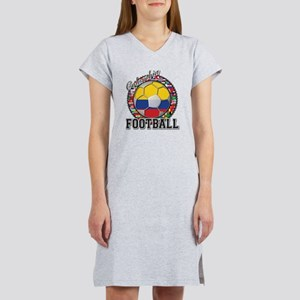 Colombia Flag World Cup Footb Women's Nightshirt