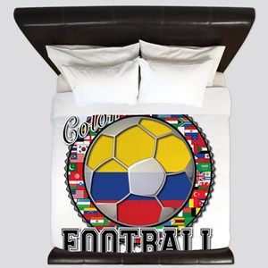 Colombia Flag World Cup Footb King Duvet