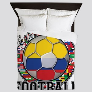 Colombia Flag World Cup Footb Queen Duvet