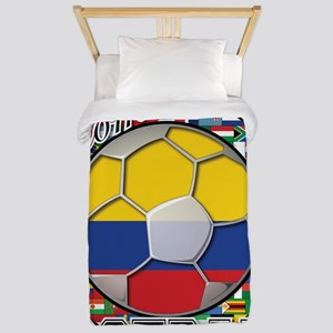 Colombia Flag World Cup Footb Twin Duvet