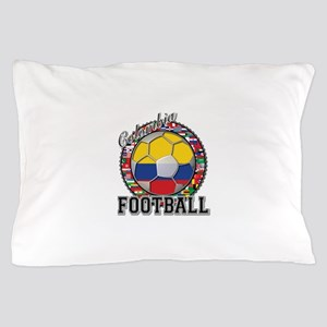 Colombia Flag World Cup Footb Pillow Case