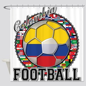 Colombia Flag World Cup Footb Shower Curtain