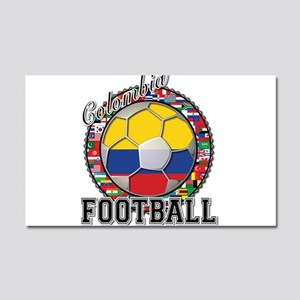 Colombia Flag World Cup Footb Car Magnet 20 x 12