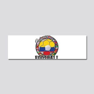 Colombia Flag World Cup Footb Car Magnet 10 x 3