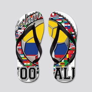 Colombia Flag World Cup Footb Flip Flops